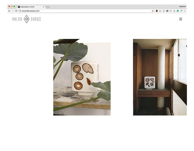Kalou Dubus ceramic – website